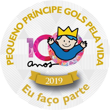 Selo Pequeno Principe Gols pela Vida - Eu Faço Parte